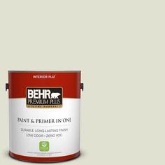 BEHR Premium Plus 1-gal. #S370-1 Positive Energy Flat Interior Paint