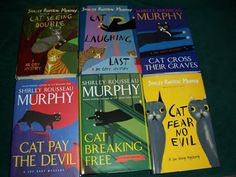 The Joe Grey Mystery's by Shirley Rousseau Murphy.. Crimes solved by cats at their owners!!