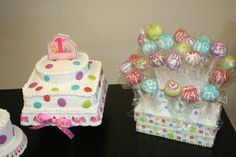 Amelia's first birthday - polka dots!