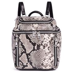 Ash 'Harper' mini snake embossed leather backpack (6.240.085 VND) ❤ liked on Polyvore featuring bags, backpacks, animal print, mini leather backpack, animal print backpack, genuine leather bag, rucksack bag and animal print bags