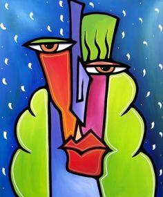 tom fedro floral paintings | ... pop art Tom Fedro 11 Les peintures et collages pop art de Tom Fedro
