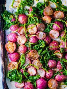 SAVE FOR LATER! Miso Butter Roasted Radishes are the perfect side dish to welcom… SAVE FOR LATER! Miso Butter Roasted Radishes are the perfect side dish to welcome in spring. They make a healthy, low carb alternative to potatoes and are so pretty! Vegetable Side Dishes, Vegetable Recipes, Vegetarian Recipes, Cooking Recipes, Healthy Recipes, Chickpea Recipes, Cauliflower Recipes, Sausage Recipes, Vegan Meals