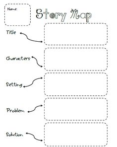 photograph about Problem Solution Graphic Organizer Printable titled tale map printable -