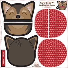 Yorkie_Coin_Purse_02 fabric by woodmouse