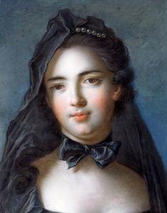 Jean-Marc Nattier - Portrait of Mary (Sophia) Charlotte de La Tour d'Auvergne, Princess of Beauvau, ca. 1750