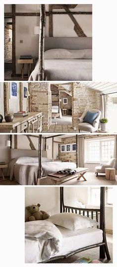 Diseños de camas hechas con troncos