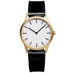 Uniform Wares Two Hand Watch In Black Uniform Wares, Second Hand Watches, Two Hands, Diamond Cuts, Black Leather, Mens Fashion, Gold, Satin, Accessories