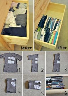 Save Space In Your Draws:)