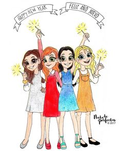 Happy New Year! Feliz Año Nuevo! #nadadeperfectas One more year! Hally, Daphne, Leena and Terra! ✨
