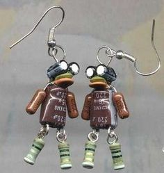 55 Unexpected Earrings - From Elegantly Porky Accessories to Recycled Firearm Jewelry (CLUSTER)