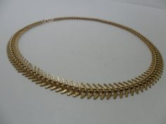 Vintage Necklace / Collar / Choker Gold Tone Metal by KathiJanes, $13.95