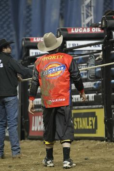 Shorty Gorham during the Last Cowboy Standing Built Ford Tough series PBR. Photo by Andy Watson with BullStockMedia.com