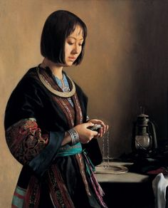 By Zhang Yibo (张义波), from China (b. 1966) - oil painting -