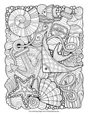 Coloring for adults. Undersea world Lizenzfreies coloring for adults undersea wo… Coloring for adults. Undersea world Lizenzfreies coloring for adults undersea world stock vektor art und mehr bilder von anker Coloring Pages For Grown Ups, Summer Coloring Pages, Free Adult Coloring, Coloring Book Pages, Printable Coloring Pages, Coloring Sheets, Coloring For Adults, Detailed Coloring Pages, Mandalas Drawing