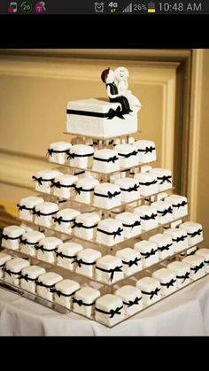 Alternative Wedding Cake - Petit Four's make  decedent mini cakes!!
