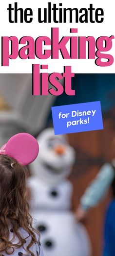 Wondering what to pack for Disney? I've got a free printable list that helps you decide what to take.