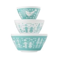 Rise N' Shine 3-pc Mixing Bowl Set, inspired by Pyrex®