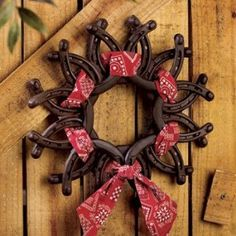 Horseshoe Wreath with Bandanna - Party Decorations & Room Decor