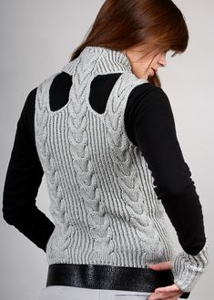 cabled vest knitting pattern