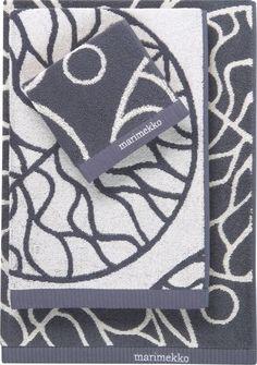 Marimekko // Bottna Slate Bath Linens // Crate and Barrel Bath Linens, Bath Towels, New Beds, Marimekko, Crate And Barrel, Aud, Slate, Bathrooms, Textiles