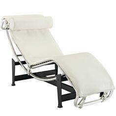 Le Corbusier Style Chaise, White