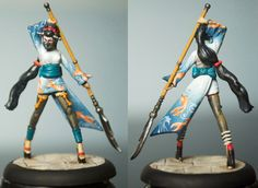 My Oiran are finally finished! Let me tell you, these ladies took a while to finish off; in part because of the detail I wanted, in part bec...