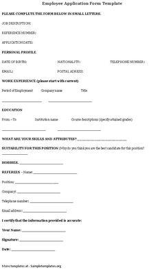 employee information sheet business forms pinterest