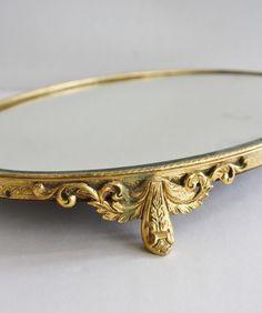 Antique Mirrored Vanity Tray