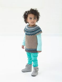 Have fun playing in the snow in this Snow Bunny Tunic made with Lion Brand's Vanna's Glamour.