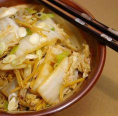 Braised Napa cabbage recipe - Will need to modify by using Braggs Liquid Aminos instead of soy sauce, coconut oil instead of vegetable oil, and arrowroot instead of cornstarch