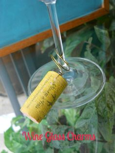 Wine Glass Charms | Honesty's Protégée #wineglass #diy #crafts