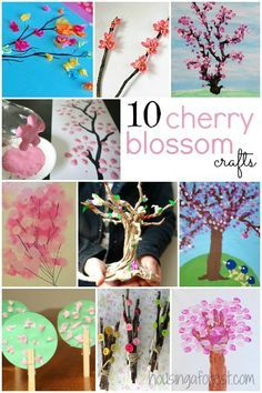 10 Cherry Blossom Tree Crafts For Kids Spring Crafts Spring Crafts For Kids Crafts For Kids