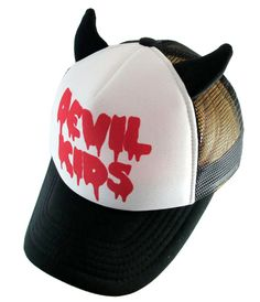 Devil Kids Cap Great alternative kids mesh cap. Get it here - http://bumpandbunny.com/collections/hollywood-mirror
