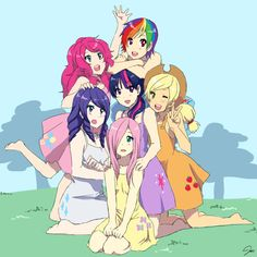 My Little Pony Human Characters | Doubtless influenced by conventional moë characters, human Fluttershy ...