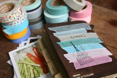Must find pretty masking tape, journals, and rubber stamps!