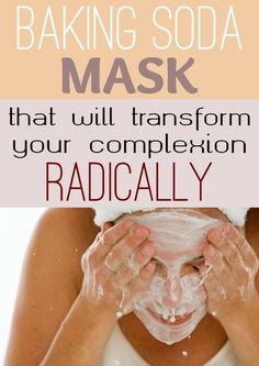 Skin Remedies Baking Soda Mask That Will Transform Your Complexion Radically Homemade Beauty, Diy Beauty, Beauty Skin, Beauty Hacks, Beauty Ideas, Baking Soda Mask, Baking Soda Scrub, Tips Belleza, Facial Care
