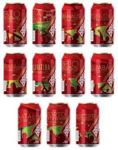 Brahma lança latas inspiradas nas cidades-sede da Copa de 2014 #2014FifaWorldCupBrasil