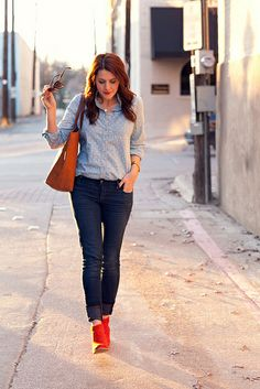 Denim and Red