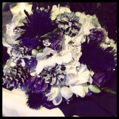 Purple and white winter wedding