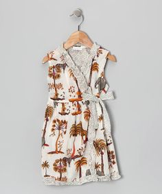Take a look at this Safari Wrap Dress - Toddler & Girls by Handprint on #zulily today!