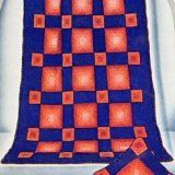 Picture this checkerboard afghan brightening a corner in your home. It  combines warmth and beauty successfully - and is easy to make!    http://www.antiquecrochetpatterns.com/checkerboard-afghan.html