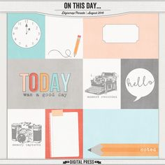 Free On This Day Journal Cards from The Digital Press {August 2016 DigiScrap Parade}