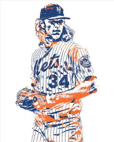 Noah Syndergaard NEW YORK METS PIXEL ART 1 Art Print by Joe Hamilton. All prints are professionally printed, packaged, and shipped within 3 - 4 business days. New York Mets Baseball, Baseball Art, Ny Mets, Baseball Games, New York Teams, Baseball Painting, Corvette Summer, Joe Hamilton, Mlb Players