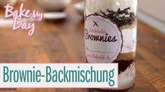 Brownie-Backmischung im Glas (mit Etiketten!) | BakeMyDay