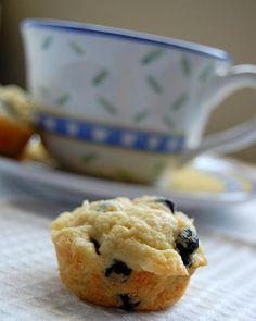 Dried Blueberry White Chocolate Lemon Muffin