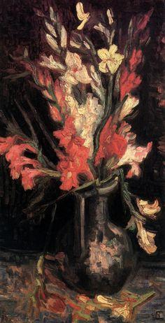 Vincent van Gogh — Vase with Red Gladioli, 1886, Vincent van...