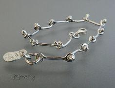 Silver Bracelet Chain Link Bracelet Hand Fabricated by LjBjewelry