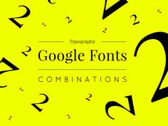 "Popatrz na ten projekt w @Behance: ""Typography: Google Fonts Combinations - Volume 2"" https://www.behance.net/gallery/41054815/Typography-Google-Fonts-Combinations-Volume-2"