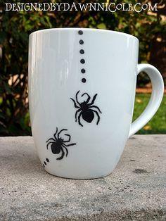 DIY Halloween Mugs | by DesignedbyDawnNicole