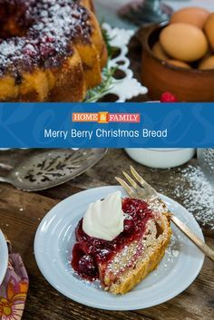We just can't get through the holidays without a slice of Grandbaby Cake's Merry Berry Bread. Catch Home and Family weekdays at 10/9c on Hallmark Channel!